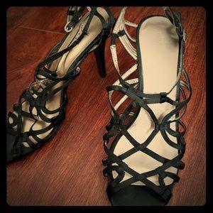 Strappy Nine West Heels!